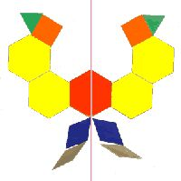 Symmetry--have cut outs of the shapes so they can save their pattern block designs when making tessellations or symmetry