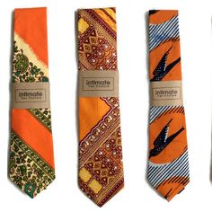 Orange is definitely the new Black. Wear exciting colourful neckties by AfroNeckties. 'Cos life is to short to wear boring neckties!