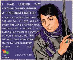 Leila Khaled.