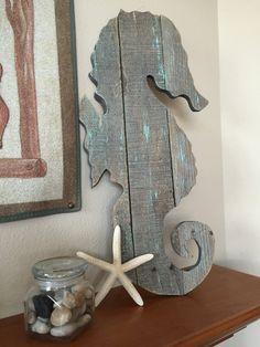 Handmade Large Seahorse Primitive Ocean Beach by TuckersMercantile