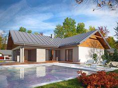 Projekt domu Arte 136,91 m2 - koszt budowy - EXTRADOM House Plans, Exterior, Outdoor Decor, Home Decor, Frames Ideas, Prefab Homes, Log Homes, Portable Stove, House Ideas Exterior