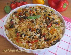 Spaghetti con Peperoni al forno