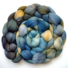 Roving Organic Polwarth Combed Top  Buttermilk and by JulieSpins, $26.70