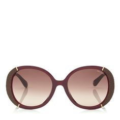 398b51eb10 Millie Sunglasses in Burgundy Python Leather and Rose Gold Metal. Discover  our Eyewear Collection and shop the latest trends today.