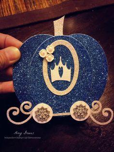 Cinderella's carriage card