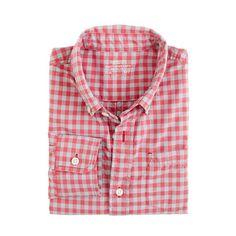 Boys' Secret Wash shirt in two-color gingham