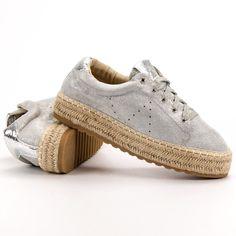 #Espadryle #Damskie #Seastar #Seastar #Szare #Wiązane #Trampki #Espadryle Puma Platform, Sneakers, Shoes, Fashion, Tennis, Moda, Slippers, Zapatos, Shoes Outlet