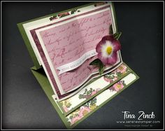 The Serene Stamper: Open Book Easel Cards Fancy Fold Cards, Folded Cards, Anna Griffin Cards, Shaped Cards, Easel Cards, Stamping Up Cards, Heartfelt Creations, Card Tutorials, Open Book