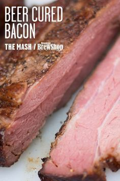 Beer cured hickory smoked bacon. This bacon was ‪cured with our Coffee Donut Stout! Get the recipe on The Mash: http://brooklynbrewshop.com/themash/recipe-beer-cured-bacon/