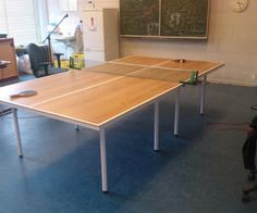 Upcycling click laminate to a table tennis table #woodworking #ping_pong #game #tabletop