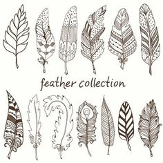 Feathers by lizzie preston coloring crafting issue – Artofit Doodle Art, Tangle Doodle, Doodle Drawings, Tribal Feather, Feather Art, Pena Tribal, Beginner Henna Designs, Feather Drawing, Doodle Inspiration