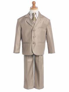 @Shawna Khaki Boys Suit - 5 Piece Suit