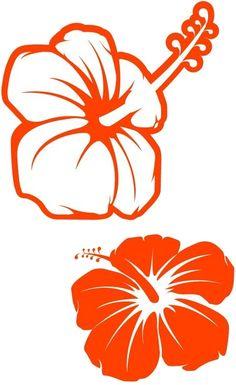 Molde para flores hawaianas - Imagui