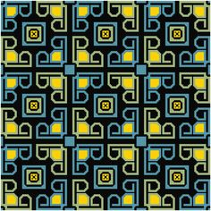 Abstract #1 Darks Needlepoint Pattern Chart Graph
