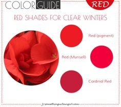 The best red color shades for Clear Winter seasonal color women
