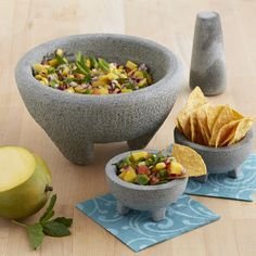 oversized salsa set for preparation and serving american themed party granite kitchen fiestas