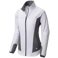 Manteau Mighty Power Hybrid de MOUNTAIN HARDWEAR/ MOUNTAIN HARDWEAR's Mighty Power Jacket Mountain Hardwear, Motorcycle Jacket, Jackets For Women, Athletic, Sport, Zip, Lady, Fashion, Woman Clothing