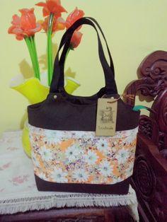canvas mix cotton mini handbag