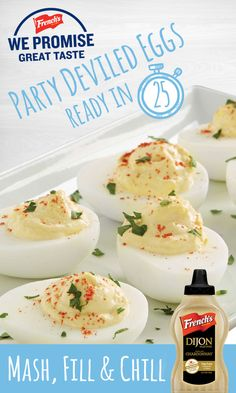 Party Deviled Eggs Need an easy app for your party that will please all your guests? Our French's Party Deviled Eggs are the perfect fit!Need an easy app for your party that will please all your guests? Our French's Party Deviled Eggs are the perfect fit! Egg Recipes, Low Carb Recipes, Great Recipes, Cooking Recipes, Favorite Recipes, Easter Recipes, Appetizers For Party, Appetizer Recipes, Good Food