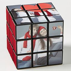 This is such a unique Valentine's Day Gift Idea! It's a personalized Photo  Rubik's Cube! You can customize it with your own photos! LOVE this romantic gift idea for boyfriends and husbands who are hard to buy for - it's so unique and cool!