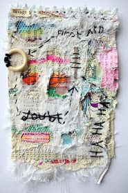 ♒ Enchanting Embroidery ♒ embroidered textile art by Stitch Therapy Crazy Quilting, Embroidery Art, Embroidery Stitches, Textile Manipulation, Textile Fiber Art, Textile Artists, Fabric Journals, Expressive Art, Boro