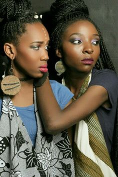 Tribal Make-up, african girls, african style, boxbraids, Mosisa Collection  https://instagram.com/mosisa_fashion/