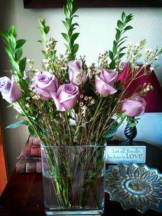 Love is... lavender roses.