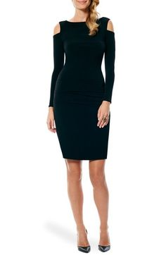 Laundry by Shelli Segal Cold Shoulder Jersey Body-Con Dress available at #Nordstrom