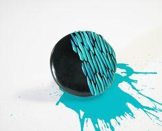 Rain / Handmade polymer clay ring. $16.00, via Etsy.