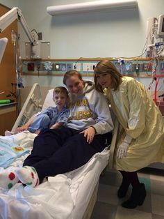 """"""" Taylor with a fan at the hospital in RI 3/31/14 """""""