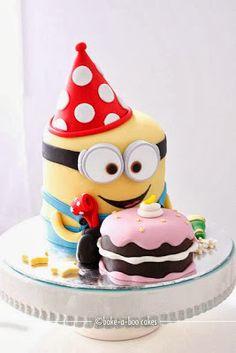 Minion cake could make using round mini minions Pretty Cakes, Cute Cakes, Beautiful Cakes, Yummy Cakes, Amazing Cakes, Bolo Minion, Minion Cakes, Bake A Boo, Minion Birthday