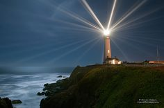 Return to Pigeon Point Lighthouse - 138th Anniversary    (Yes, there really are 24 separate distinct beams of light all at once!)