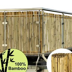 DEKORATIVER NATUR #SICHTSCHUTZ UND WINDSCHUTZ AUS PREMIUM BAMBUSHOLZ  Diese Sichtschutzmatte B38 besteht aus robustem und massivem #Bambus, eignet sich hervorragend zur Verkleidung und Dekoration von #Terrassen, #Zäunen, #Gartenzäunen, Balkonbrüstungen und bietet Ihnen durch seine großen Maße einen idealen Einsatz als Sicht- und #Windschutz, oder auch als #Schattenspender. Divider, Furniture, Home Decor, Porches, Panelling, Nature, Timber Wood, Dekoration, Decoration Home