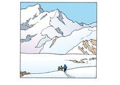 Tintin in Tibet Ligne Claire, Popular Art, Travel Scrapbook, Simple Art, Storyboard, Cartoon Art, Design Art, Comic Books, Animation