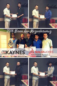 Gebze Solidworks Eğitimi Nisan ayı 1.Grup mezuniyet törenimizi gerçekleştirdik.