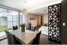 Cloison de séparation Origami acier, noir Decor, House Design, Interior, Living Dining Room, Home Wine Cellars, Home Decor, Room Divider, Interior Design, Room Partition Designs