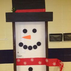Cute Bulletin Board Ideas | ... decorations can extend to your door with a cute snowman like this one