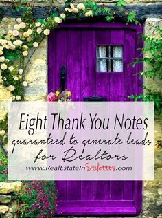 Eight Thank You Notes Guaranteed to Generate Leads for Realtors — Real Estate In Stilettos Real Estate Marketing Tips for Realtors and For Sale By Owners! Real Estate Career, Real Estate Leads, Real Estate Tips, Selling Real Estate, Real Estate Sales, Real Estate Investing, Real Estate Marketing, Real Estate Business Cards, Realtor Business Cards