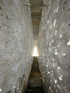 light penetrating the voids in these walls creates sparkle  n-architektur: Intervención en la muralla nazarí Granada / Antonio Jiménez Torrecillas