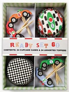 Race Car Cupcake Set By Meri Meri by Make It Mine Parties. $14.75. 24 Race Car decorated paper cupcake liners.