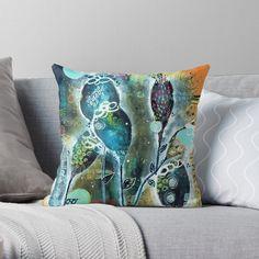 Night Garden, Organic Shapes, Throw Pillows, Art Prints, Create, Printed, Awesome, Artist, Artwork