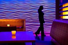 Wave Wall in the color of mood. JRDN restaurant at Tower 23 Hotel. . . . #restaurant #restaurantphotography #inthemood @t23hotel #jrdn #tower23 #sandiego #pacificbeach #ca #interiordesign #restaurantdesign #architecturephotography #architecturalphotography #modern #wavewall #3d #pacificbeachlocals #sandiegoconnection #sdlocals #sandiegolocals - posted by Mike Torrey Photography https://www.instagram.com/miketorreyphoto. See more post on Pacific Beach at http://pacificbeachlocals.com