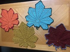 YOU CAN USE THEM AS A TABLE RUNNER/ TABLE MAT/ DOILY OR AS A WALL HANGING EVEN. PERFECT GIFT FOR THE Fall/ Autumn/ Maple leaves lover/ decor IN YOUR house/ FAMILY/ FRIENDS. VERY UNIQUE, TRENDY MAPLE LEAVES PATTERN, DONE IN RUST BROWN, ORANGE, MUSTARD YELLOW AND DULL GREEN- YOU WILL GET ALL 4 MATS SHOWN. | eBay!