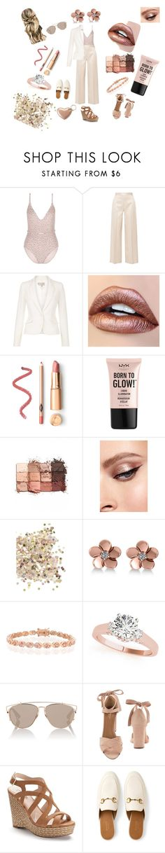 """""""Copper lightening"""" by ninelgm ❤ liked on Polyvore featuring Zimmermann, The Row, Hobbs, NYX, tarte, Topshop, Allurez, Bling Jewelry, Christian Dior and Aquazzura"""