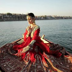 Nataly Osmann in India's traditional look at Varanasi in India