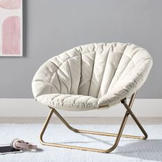 Hang A Round Chair Solid Pink Spaces Round Chair