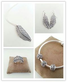 PANDORA Pave Feather Collection ♡