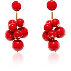Marni Red Acrylic Earrings ($500) ❤ liked on Polyvore featuring jewelry, earrings, marni, red jewelry, acrylic earrings, red earrings and marni jewelry