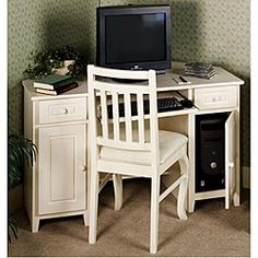 @Overstock - Update your home office with this elegant corner desk. This space-saving corner desk is crafted with a laminated engineered wood in a white wash finish.http://www.overstock.com/Home-Garden/Ivory-White-wash-Corner-Computer-Desk-by-Passport-Accent/6205895/product.html?CID=214117 $257.39