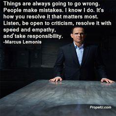 Great advice and business tip from Marcus Lemonis business guru and CNBC's The Profit. #PersonalDevelopment #SelfImprovement #Entrepreneur #Success